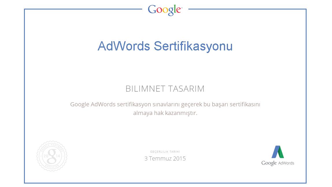 Google AdWords Sertifikalı İş Ortağı